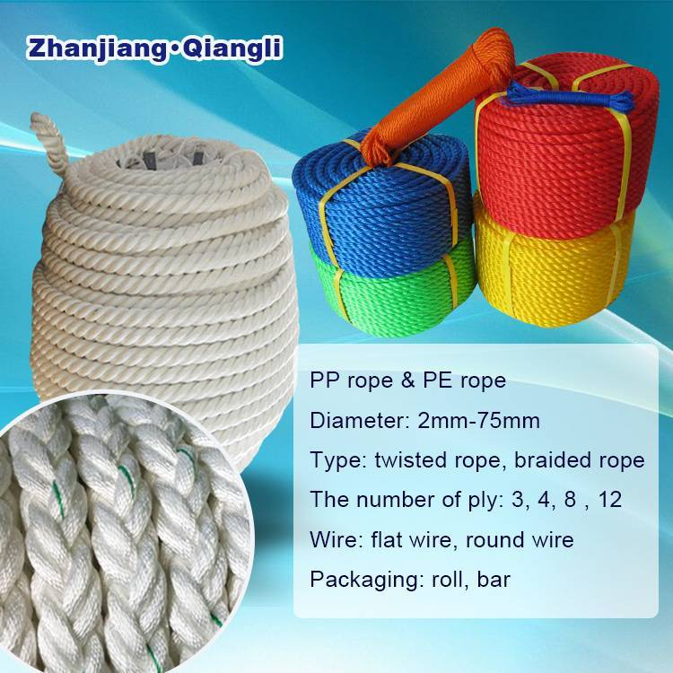 Plastic Fishing PP Rope PE Rope
