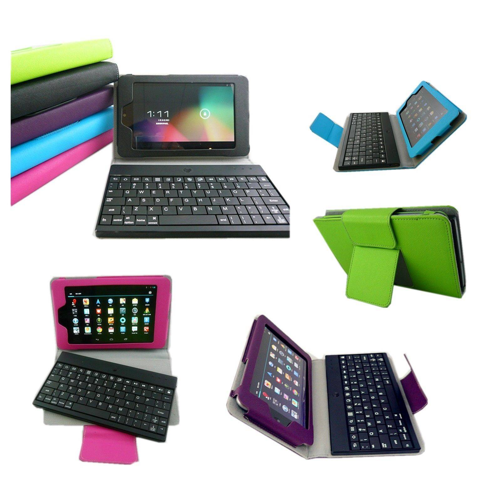 Bluetooth US keyboard with Leather case for 7 Asus Google Nexus 7