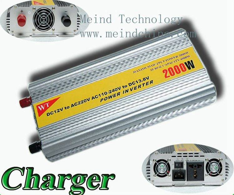 2000W Power Inverter with Charger AC Adapter Car Inverters Power Supply Watt Inverter Car Charger