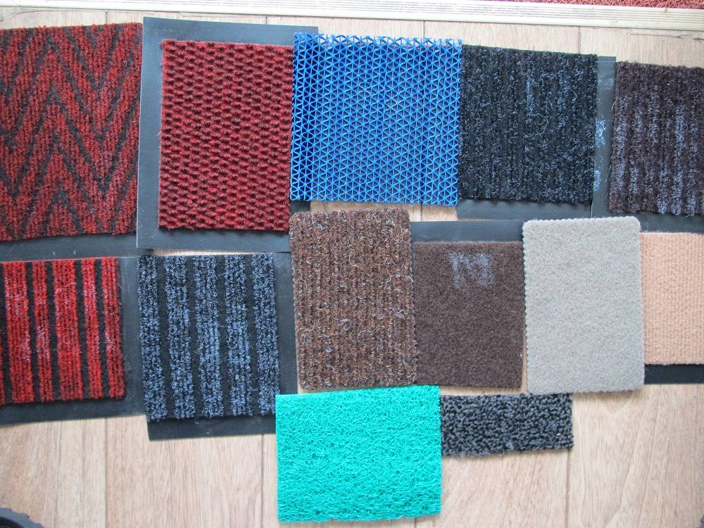 Double stripe mats, cut pile mats, Full Stripes Mats, Three and give stripe mats-SHANDONG RUIYING