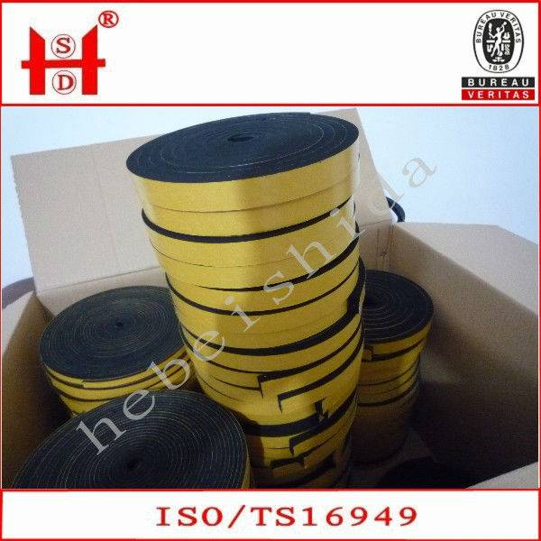 foamed sponge epdm rubber seal strip
