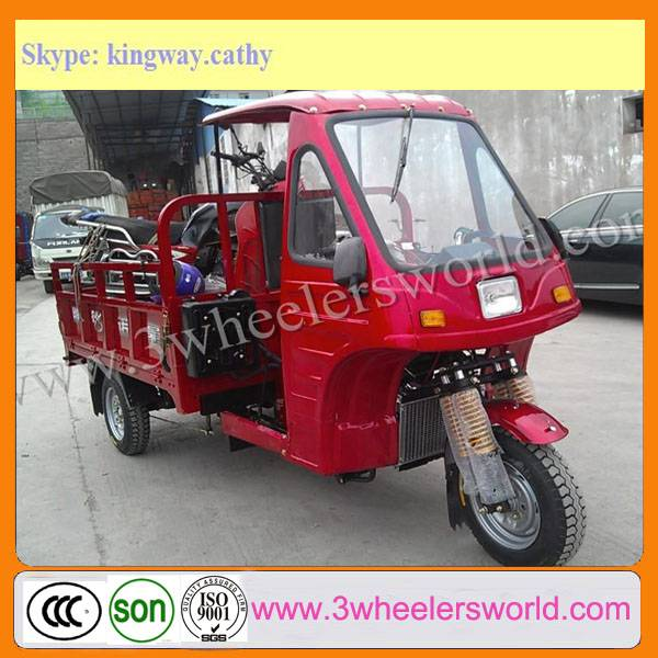 200CC Cargo Tricycle with Closed Cabin from China Manufacture