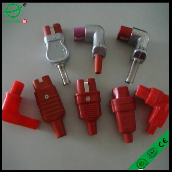 female 2 holes silicone high temperature plug