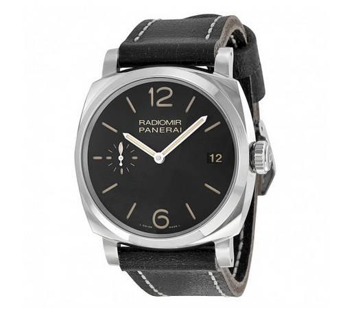 Panerai Radiomir 1940 Black Dial Black Leather Men's Watch