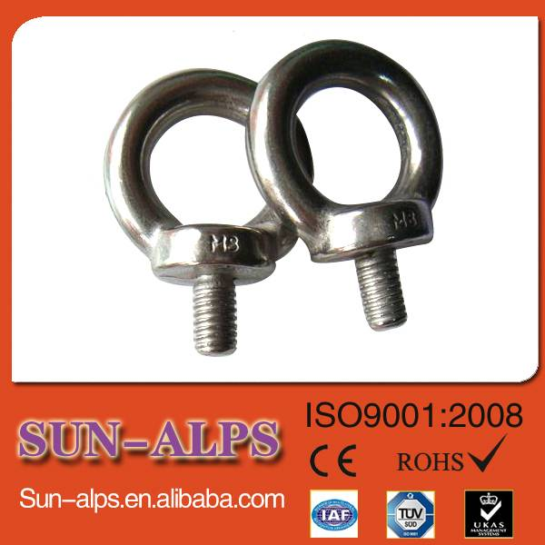 China supplier,eye bolt manufacturing,provide good quality low price DIN580 lifting forged eyebolt
