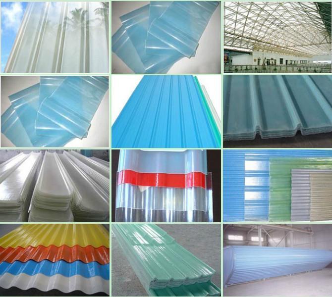 FRP Fiber roof sheet/fiber glass panel/fiber transparent roofing sheet