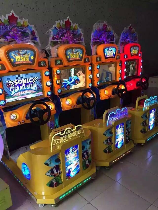 Popular indoor games 22LCD Sonic Anti Doo theme park Racing Game Machine