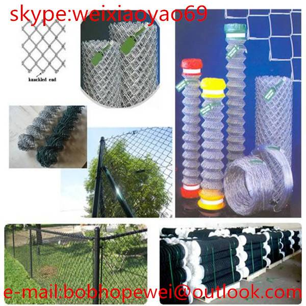 Factory Wholesale Powder Coated Used Chain Link Fence For Sale