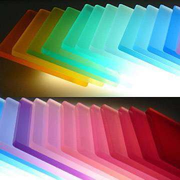 high quality frosted colorful plexiglass sheet