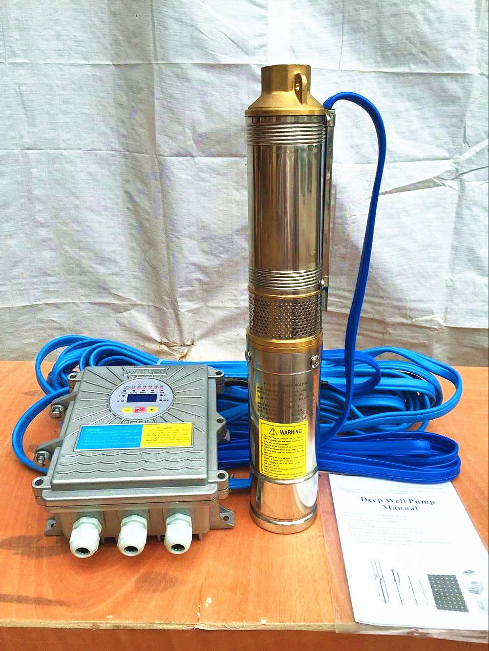 72v dc bomba de agua for Chile dc solar submersible pump price solar water pump with MPPT controller