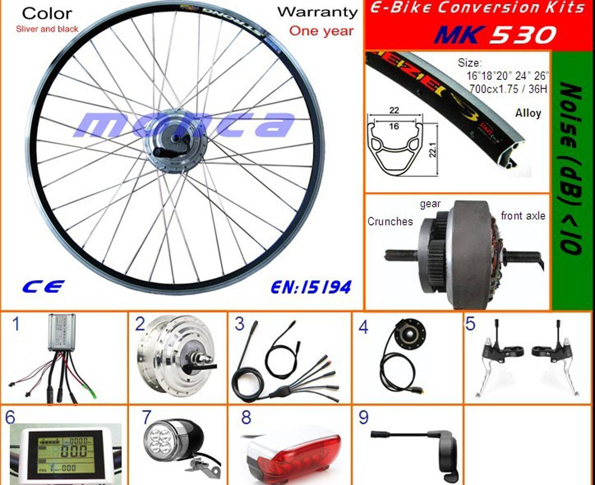 500W Motor Conversion Kits for Electric Bike