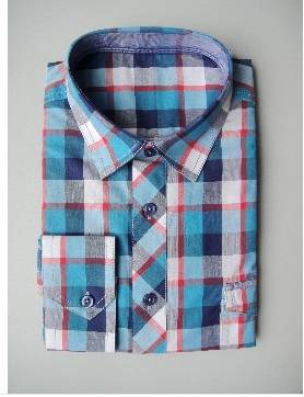 men's leisure shirt with check