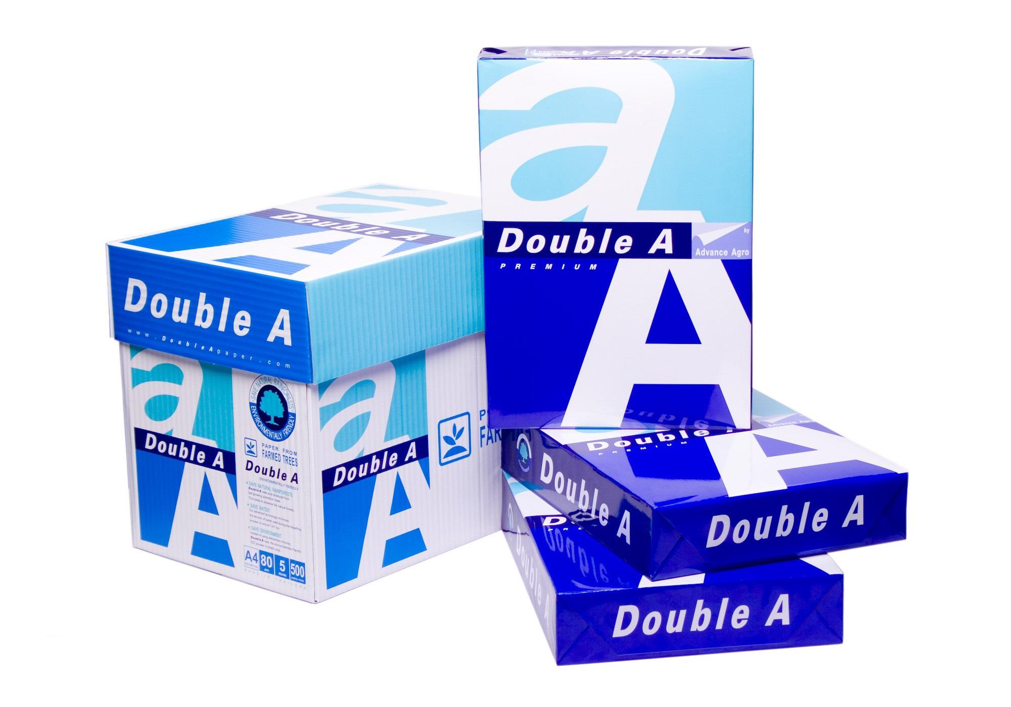 Double A A4 copy paper 80 GSM