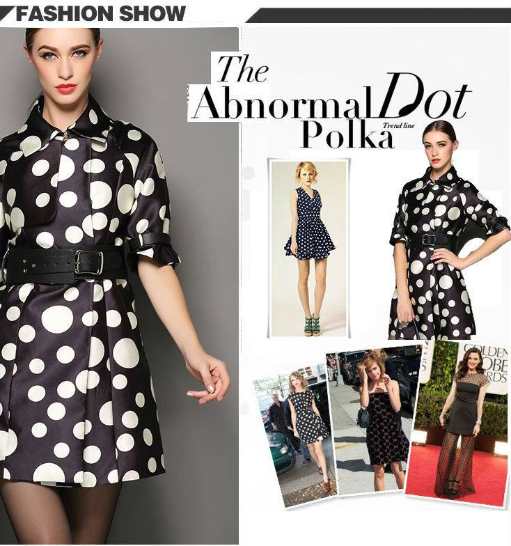 The new 2015 polka dot coat The European and American style dress