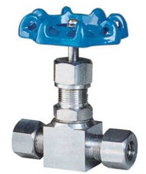 SS316 ferrule type needle valve,1/2OD,6.4Mpa