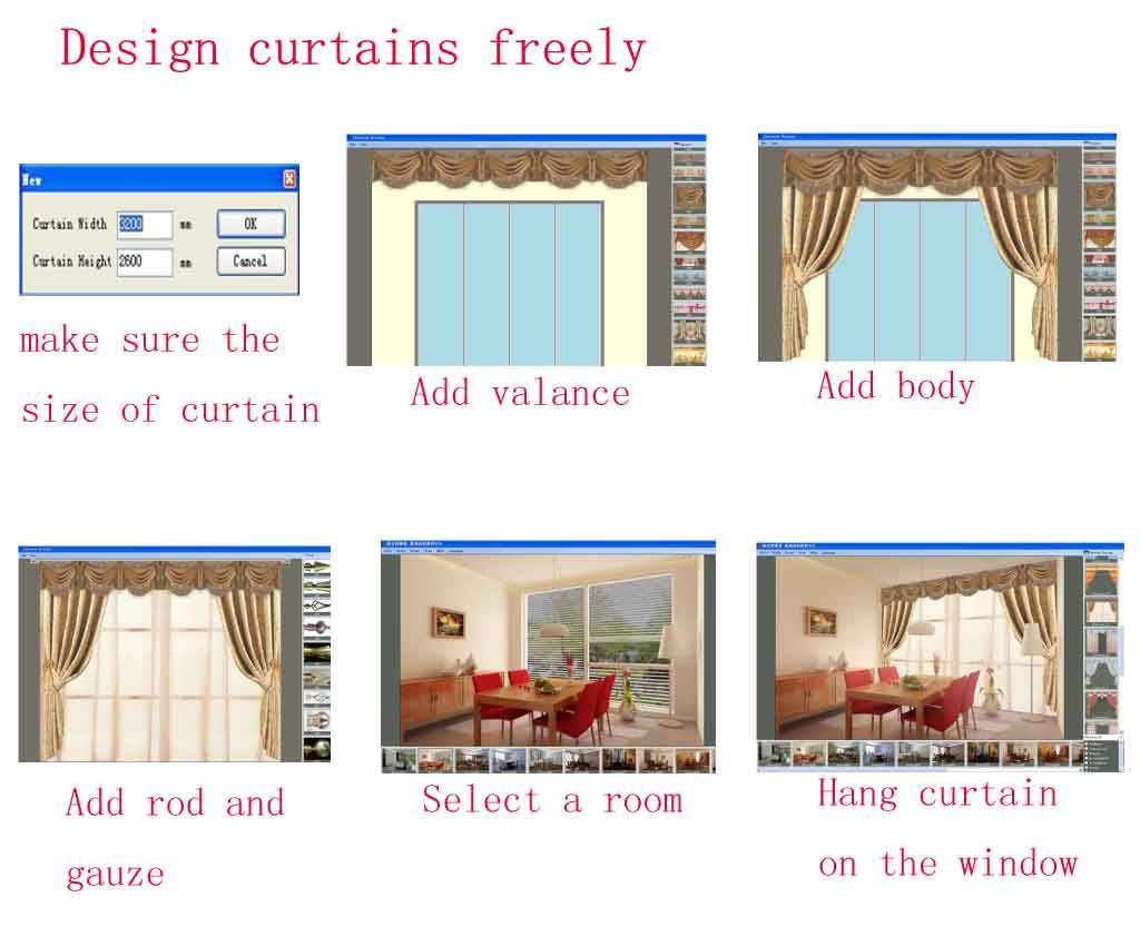 Curtain design software for Curtain creator software