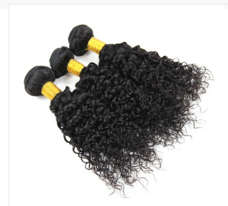 [8A]3 Bundles Peruvian Hair Weave Water Wave with 360 Lace frontal