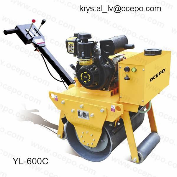 Single wheel diesel road roller vibrator