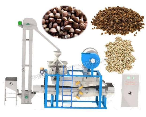 Buckwheat Hulling and Separating Machine