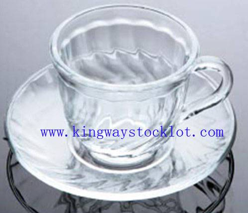 Stock Glass cup set,closeout glass cup set,excess inventory Glass cup set,stcok glass cup
