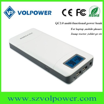 2017 newest High capacity 15600mah portable power bank with QC 2.0 standard