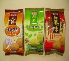 Korean Cookie – Garlic, Green Tea, Red Ginseng