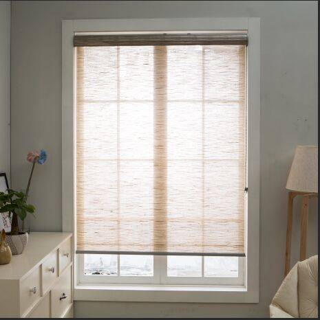 selling luxury natural materials fabric decorative roller blinds