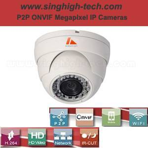 P2p Onvif 720p 1.0MP Waterproof IR IP Camera (NS5033)
