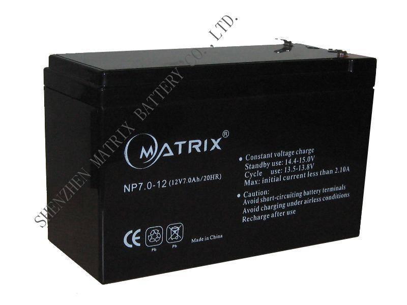 12V7AH Maintenance-free lead-acid batteries