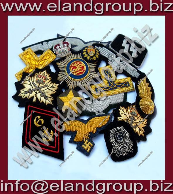 Bullion Badges Hand embroidery