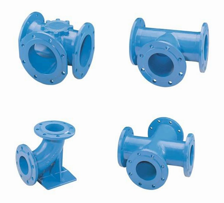 Pipe Fittings of Ductile Iron (GGG) Tee Cross