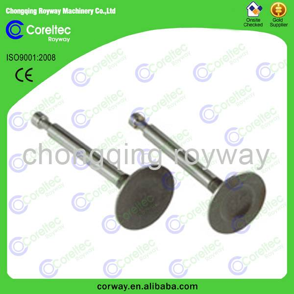 Stellited engine inlet valve and outlet valve, original engine inlet valve and outlet valve