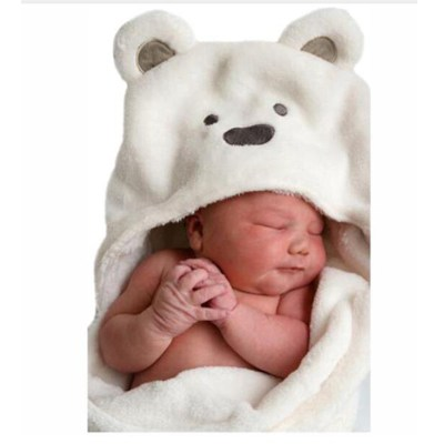 Lovely baby wool animal shape boyhooded towel