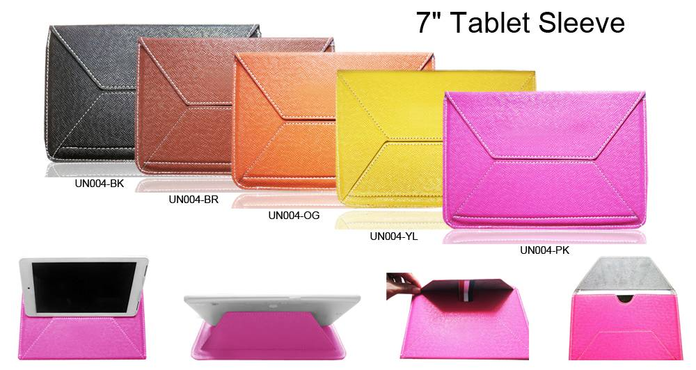 Notebook pu leather case for 7inch case bag