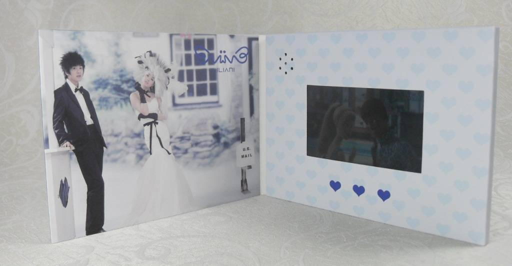 Wedding gift/Party gift video greeting card A4/A5/B5lcd video cards