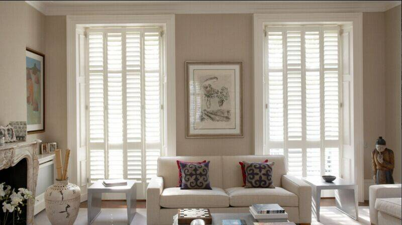 Basswood Plantation window wooden shutters