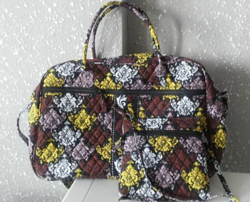 quilted duffle and hipster bag