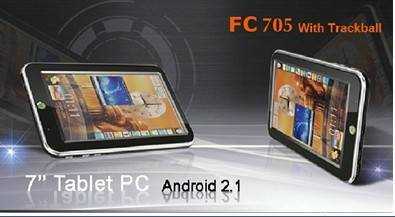 FC705 7 inch Google Android2.1 WiFi Tablet PC MID PC