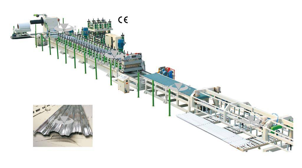 Steel structure deck/ roof panel NC high speed roll forming line