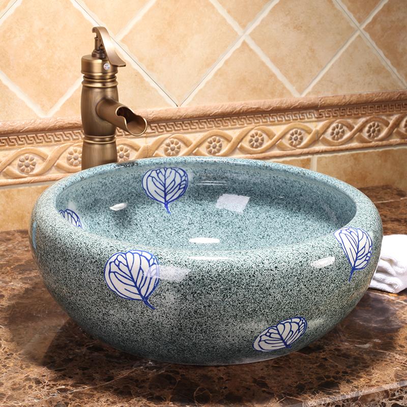 Hotel Antique Bathroom Porcelain Above Countertop Washstand Ceramic Wash Basin Sinks