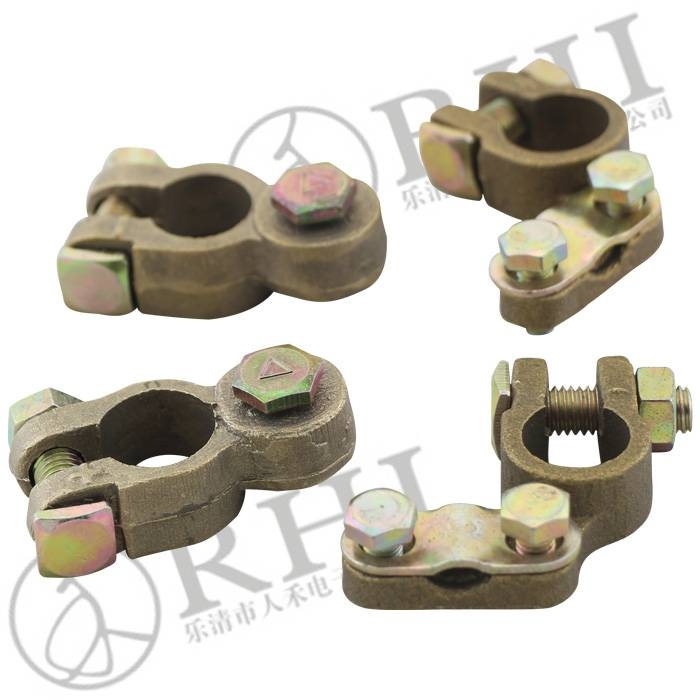 Brass Coted truck/ bus/ car Battery Terminal types, 12V battery terminal, brass terminal clips