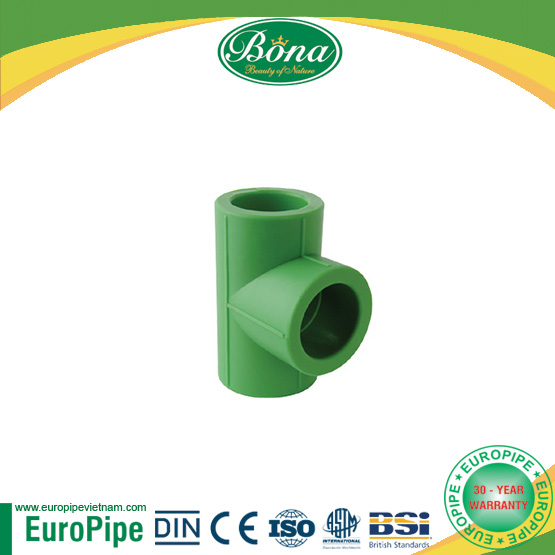 [EUROPIPE] High Pressure pn40 ppr equal tee union for welding machine and for hot and cold water