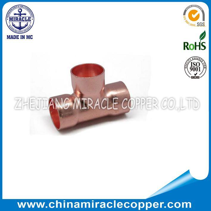 Refrigeration Copper Tee