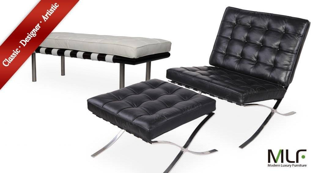 Selling MLF® Barcelona Chair & Ottoman + Barcelona Bench