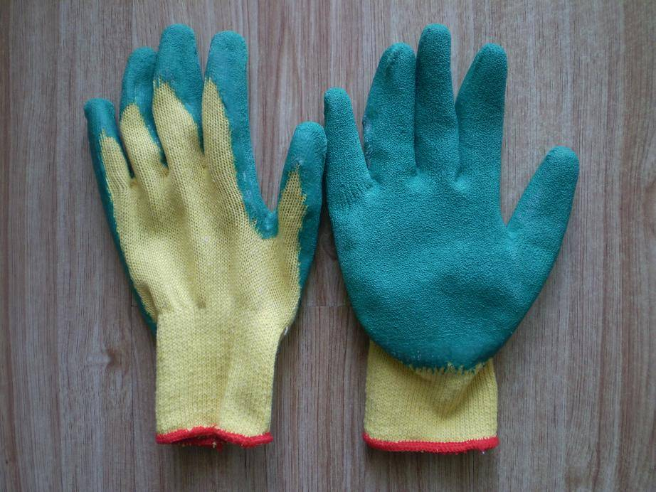new latex coated industry hand gloves
