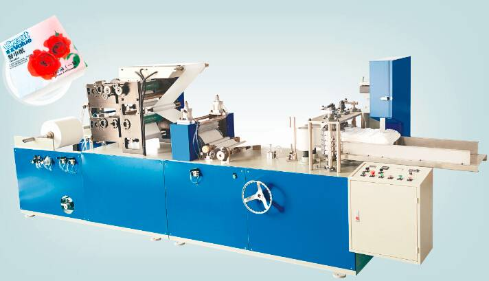 Napkin paper folding machine
