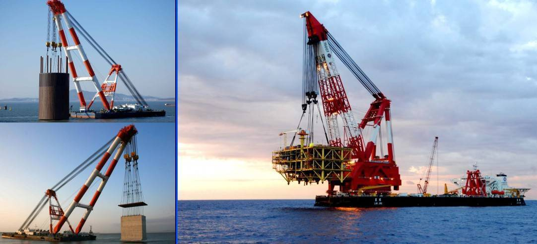 floating crane sell & charter crane barge 2500t 3000t 3500t 4000t 5000t