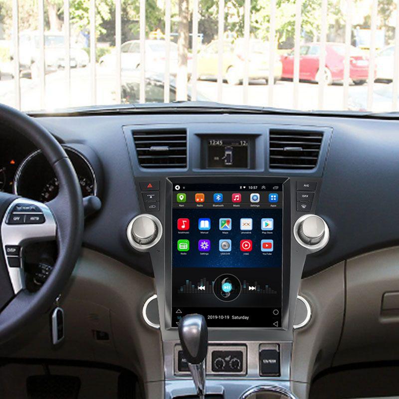 Tesla Style 12.1 Inch Android Car Multimedia Navigation For Toyota Highlander 2009-2013