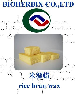 rice bran wax,for cosmetic and food and industrial use