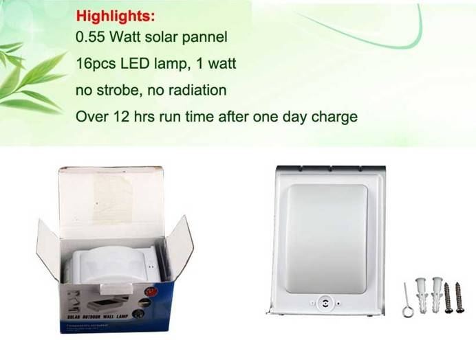 Sound activated is 55DB Solar sound sensor wall lamp